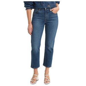 💖Levi's 501 Original High Rise Cropped Jeans